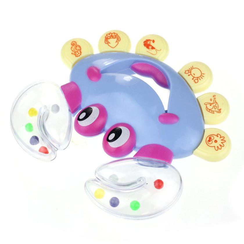 Kids Baby Crab Design Handbell Musical Instrument Jingle Rattle Toy baby toys 0-12 months bebek oyuncak great