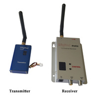 FPV видеонаблюдения 2,4 ГГц 2,4 г 1000 МВт 1 Вт Беспроводной видео передатчик, 2,4 г FPV дроны и БПЛА трансивер, 12 Каналы видео изображения отправителя