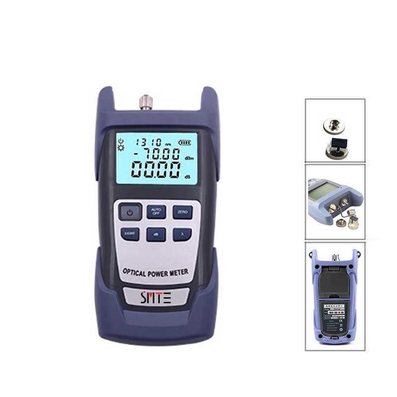 Kit de herramientas de fibra óptica FTTH 12 unids/set FC-6S cuchilla de fibra-70 ~ + 3dBm medidor de potencia óptico 5km pluma láser