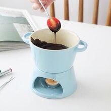 MUZITY керамический набор для шоколадного фондю сырника с керамической подставкой и тремя вилками шоколадного фондю для домашнего приготовления пищи