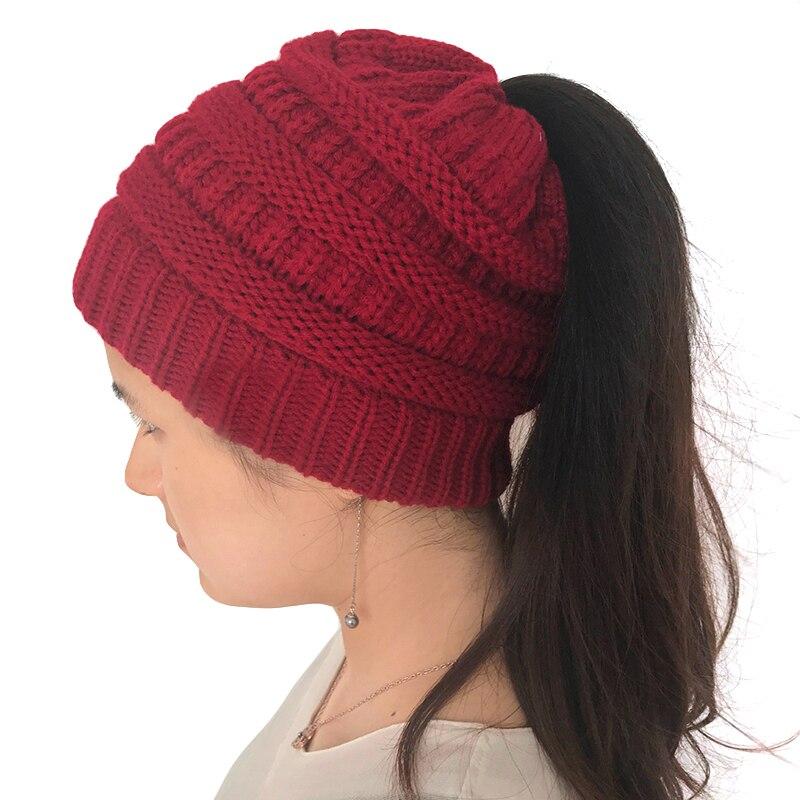 New Arraival 2017 font b Winter b font Warm font b Women b font Knitted Bonnet