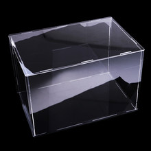 Transparan Acrylic Display Case Vitrina Transparente Acrylic Display Kotak Tray Tahan Debu Penyimpanan Acara Kotak 40x20x20cm(China)