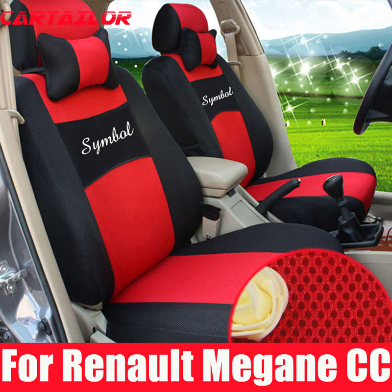 cartailor mesh car seat cover set for renault megane automobiles seat covers for car seats. Black Bedroom Furniture Sets. Home Design Ideas