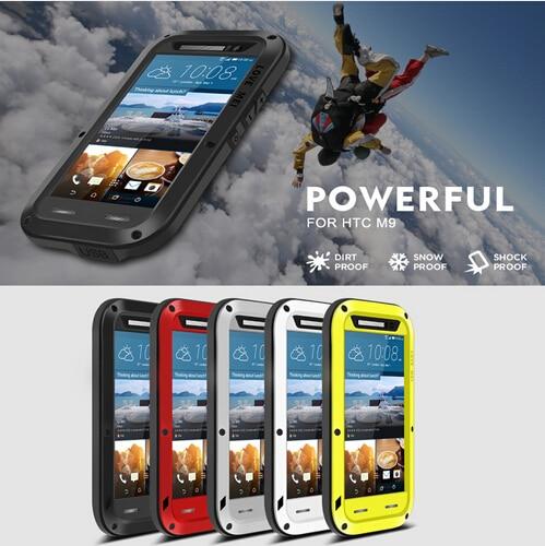 <font><b>LOVE</b></font> MEI Powerfull Drop resistance gorilla glass+Aluminum Metal Armor Dirt Waterproof Case for HTC <font><b>One</b></font> M8 M9/ A9/ E8/ Desire 820