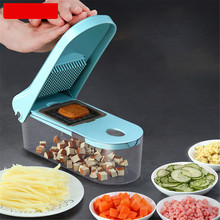 TTLIFE Multifunction 8 In 1 Food Vegetable Salad Fruit Peeler Cutter Slicer Dicer Onion Chopper with Container Kitchen Tool