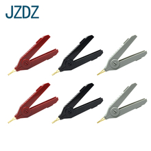 JZDZ J.60035 6 pcs Large kelvin crocodile clip welded, copper plated