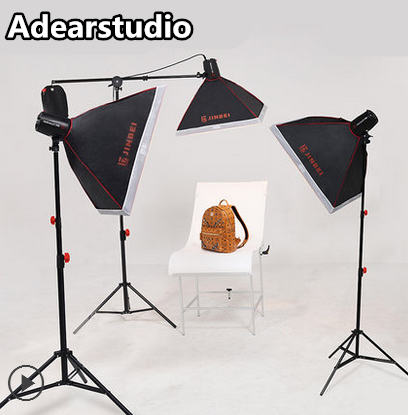 JINBEI 250W Photo Studio Strobe Flash Light Softbox Lighting Kit with Carrying Bag for Portrait,Product and Video Shoots NO00DC selens pro camera bags studio flash strobe lighting set trolley bag se xlpro