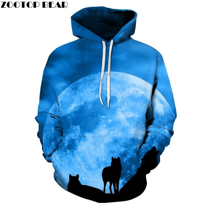 Galaxy Wolf Gedruckt 3D Hoodies Männer Marke Hoodie Heißer Verkauf Unisex Sweathsirts Herbst 6XL Pullover Fashion Trainingsanzüge Jungen Jacken