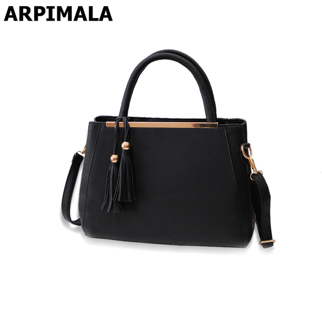 Arpimala 2017 Lastest Designer Purses Las Hand Bags Women Leather Handbag Luxury Fringe Briefcase For Work