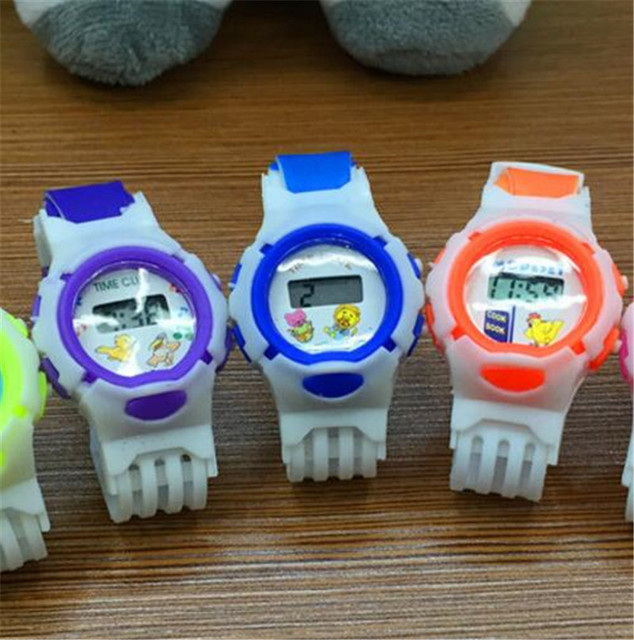 LED Watch Electronic Digital Chronograph Computer Kids Child Boys Girls Rubber W