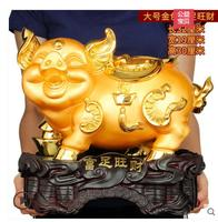 golden pig wealth Large home decor out the opening gift pig living room shop opening craft gifts home decoration
