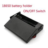 18650 batería de almacenamiento 3,7 V para 2x18650 baterías titular caja contenedor de 2x18650 baterías titular Caja 2 ranuras interruptor ON/OFF