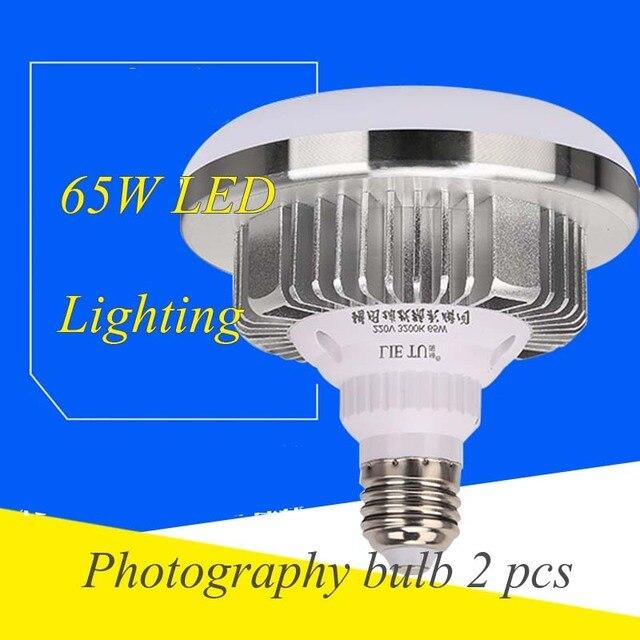 2pcs Light LED Lighting Photography 65w Bulb 5500k