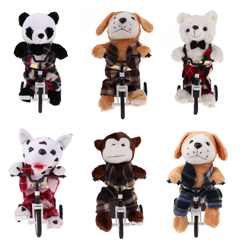 Hot Item Adorable Riding Tricycle Animal Toy Plush Doll Sing Puppy