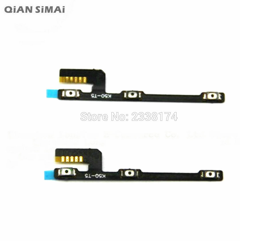 QiAN SiMAi For <font><b>Lenovo</b></font> <font><b>A7000</b></font> New Power on/off+<font><b>Volume</b></font> up/down Switch <font><b>Button</b></font> Flex Cable Repair Parts + Free shipping image