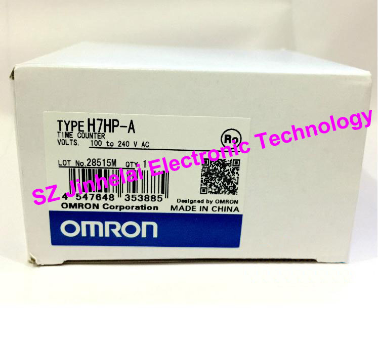 H7HP-A  New and original OMRON  TIME COUNTER  100-240VAC new and original e3x da11 s omron optical fiber amplifier photoelectric switch 12 24vdc
