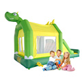 YARD Nylon Inflatable Trampoline Dinosaur Bouncy Castle with Cover Kids Jumping House Outdoor Play Toys