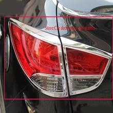 ABS Cromato Dopo faro Della Copertura Della Lampada per Hyundai ix35 2010-2012