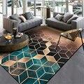Европа и Америка темно-зеленый золотой черный градиент Алмазный ковер ковры для гостиной спальни ковры журнальный столик