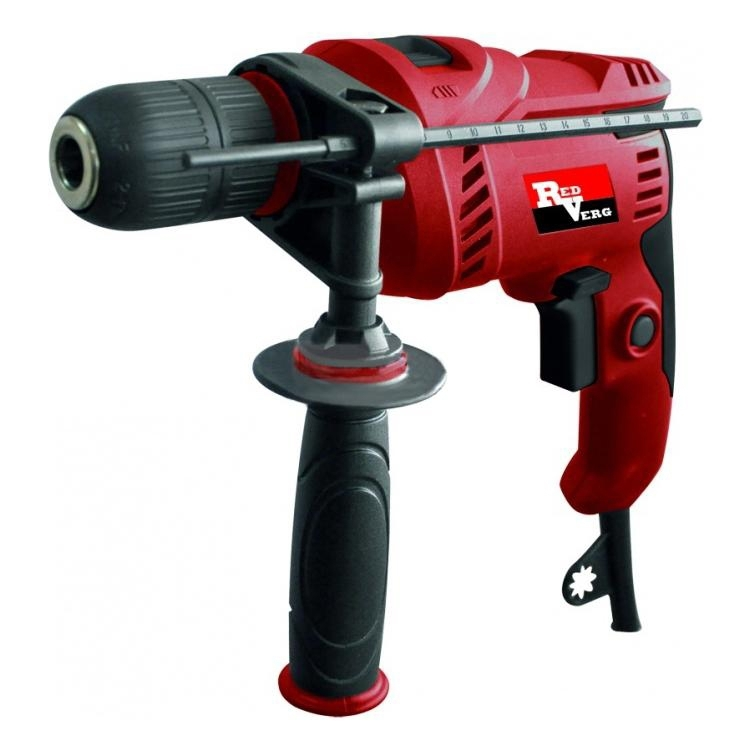Drill impact RedVerg RD-ID600S (Power 600 W, reverse, depth adjustment drilling) hammer drill electric redverg rd rh1500 power 1500 w drilling in concrete to 36mm антивибрационная system