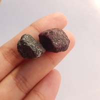 Wholesale 2Pcs Hot Sale Raw Material Semi Finished Products Nugget Ruby Beauty Jewelry 15x13x9mm 15x11x10mm 7