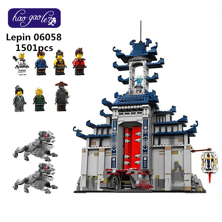 lepin 06058 1501pcs Building Blocks bricks Movie Temple of The Ultimate Weapon DIY baby Toys children Gift 70617 lepin 06058 ninja serie die tempel der ultimative ultimative waffe modell bausteine set kompatibel 70617 spielzeug fur kinder