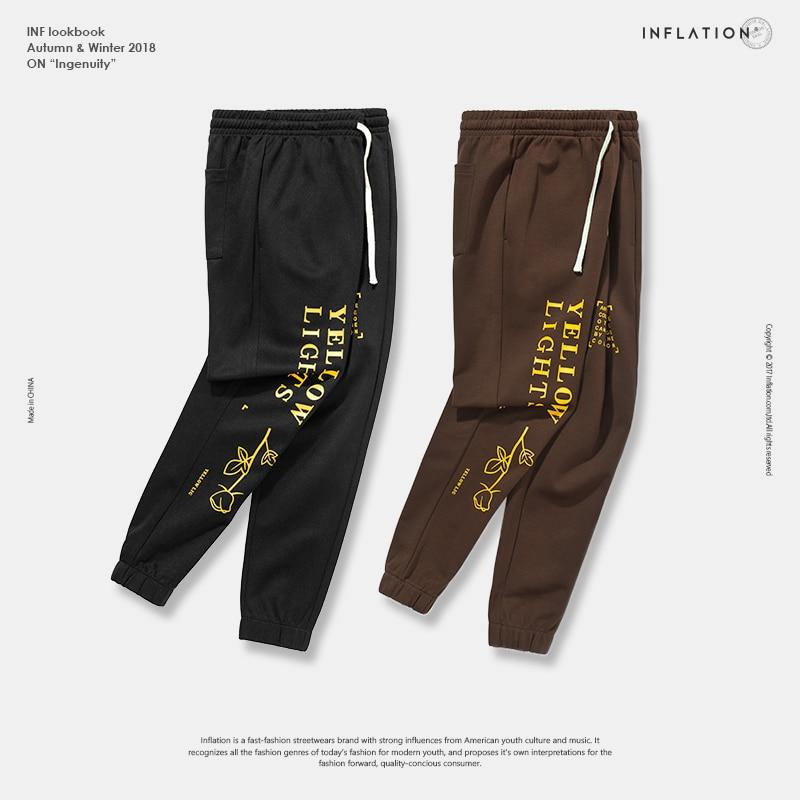 Image 4 - INFLATION Letter pringting sweatpants 2018 autumn streetwear male female pants hip hop trendy fashion track trousers 8835W    -