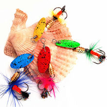 KKWEZVA NEW STYLE 4pcs 2.4g 5cm spinner bait fishing lure spoons Fresh Shallow Water Bass Walleye Minnow Fishing Tackle Spinner