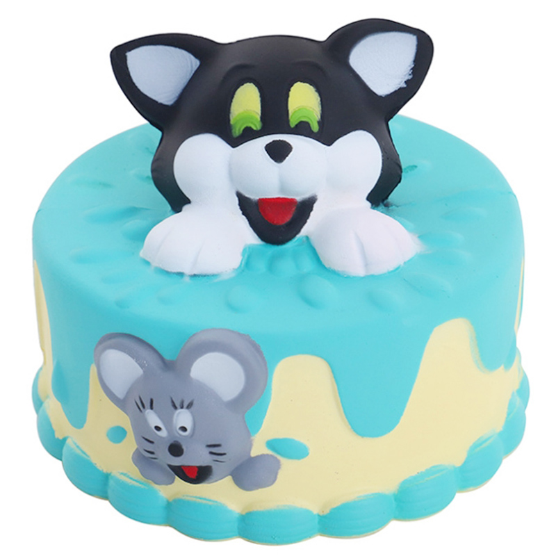 New Jumbo Cat Cake Squishy Kawaii Slow Rising Soft Squeeze Toy PU Bread Cake Scented Stress Relief Toy For Kid Xmas Gift
