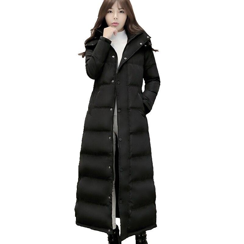 Winter New Hooded Women Down jacket Coat Women Winter Jackets Slim Warm Long Down jacket Women Fashion Elegant Jacket F1880