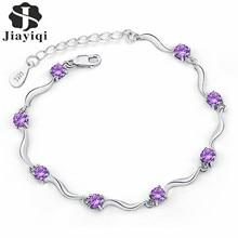 Cubic Zircon Crystal Chain Bracelet