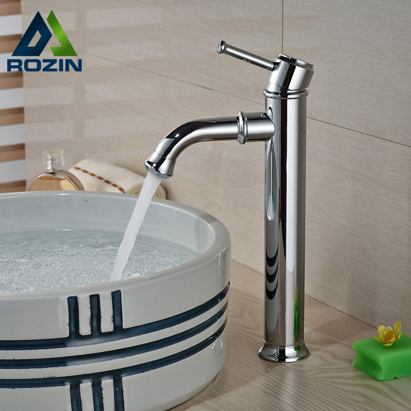 ФОТО Luxury Chrome Brass Bathroom Mixer Faucet Single Handle Basin Sink Washing Taps Deck Mounted
