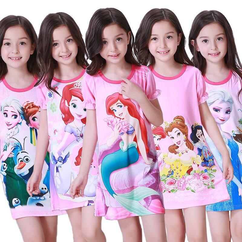 a860d4ab7 Los niños de manga corta camisón traje de verano de los niños camisón niñas  precioso tiempo en casa de niños día de Sleepdress ~ Premium Deal July 2019