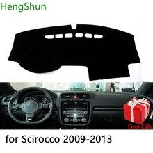 Для Volkswagen Scirocco 2009 2010-2013 стайлинга автомобилей тире коврик покрытие для приборной панели наклейка на приборную панель Обложка козырек от солнца крышка приборной доске ковер