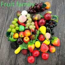 10 Pcs Mini Simulation Foam Fruit And Vegetables Artificial Kitchen Toys For Children Pretend Play Toy
