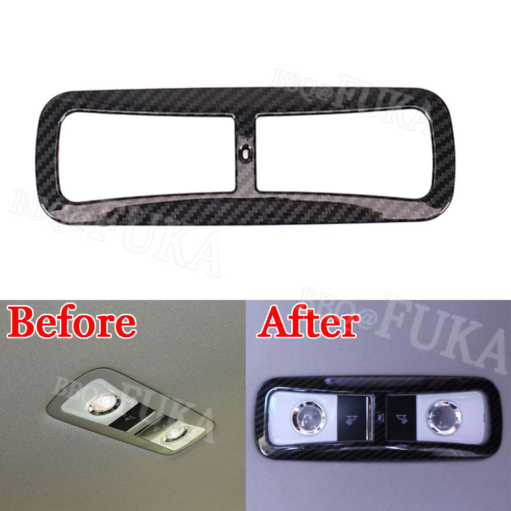 For <font><b>Honda</b></font> 10th <font><b>Accord</b></font> <font><b>2018</b></font> Car Top Roof Rear Reading Light Lamp Cover Carbon Fiber/Silver Color Decorative Styling <font><b>Accessories</b></font> image