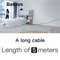 Удивительные 5 м кабеля Baseus обновления Тип usb C Поддержка быстрой зарядки для samsung galaxy note 9 s9 s8 плюс Тип C устройств