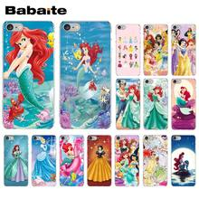 Babaite Princesa Ariel Da Pequena Sereia princesa da neve DIY High-end Protector Case para iPhone 5 5Sx 6 7 7 além de 8 8 Plus X XS MAX XR(China)