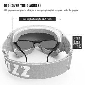 Image 4 - COPOZZ מגנטי סקי משקפי עם מהיר שינוי עדשה ומקרה סט 100% UV400 הגנה אנטי ערפל סנובורד משקפי עבור גברים & נשים