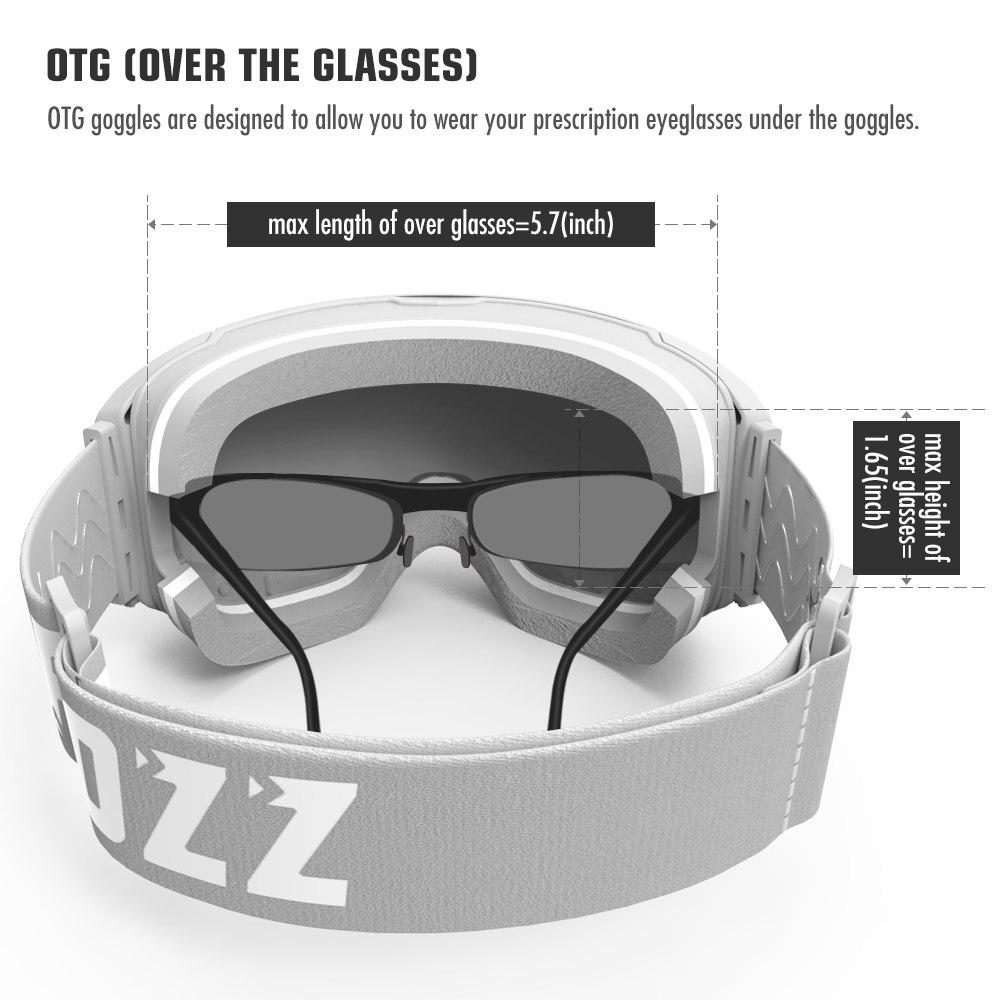 Lunettes de Ski magnétiques COPOZZ avec objectif et étui à changement rapide 100% UV400 Protection Anti-buée lunettes de Snowboard pour hommes et femmes - 4