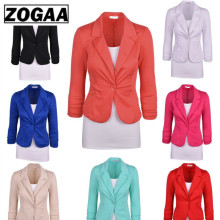ZOGGA Small Suit 2019 New European and American Slim One Button Jacket Womens Suits
