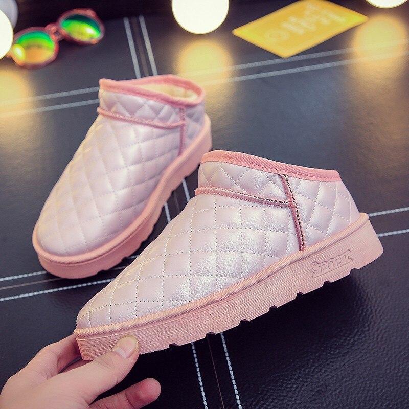 7c9f3925c5fc0d Hiver Simple Casual Bottes Mode rose 2018 gris Confortable De Chaussures  Neige Épais Tendance Chaud Nouvelle Femmes Noir HwTpdpxg