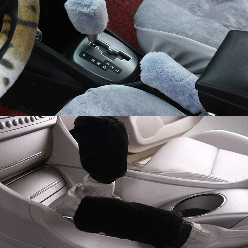 Hot Sale Winter Plush Car Essential Gears Sets Handbrake Cover Auto Supplies To Cover Winter Car Manual Gear Ornaments