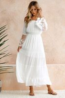 dresses women dress elegant plus size bohemian lace flare sleeve summer 2019 gothic clothes white sexy party mama casual