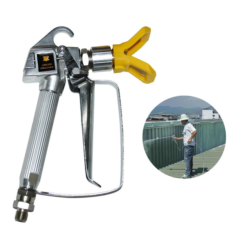 цены 3600PSI High Pressure Airless Latex Paint Spray Gun Spraying Equipment Spray Gun Mini Air Paint Spray Guns Airbrush
