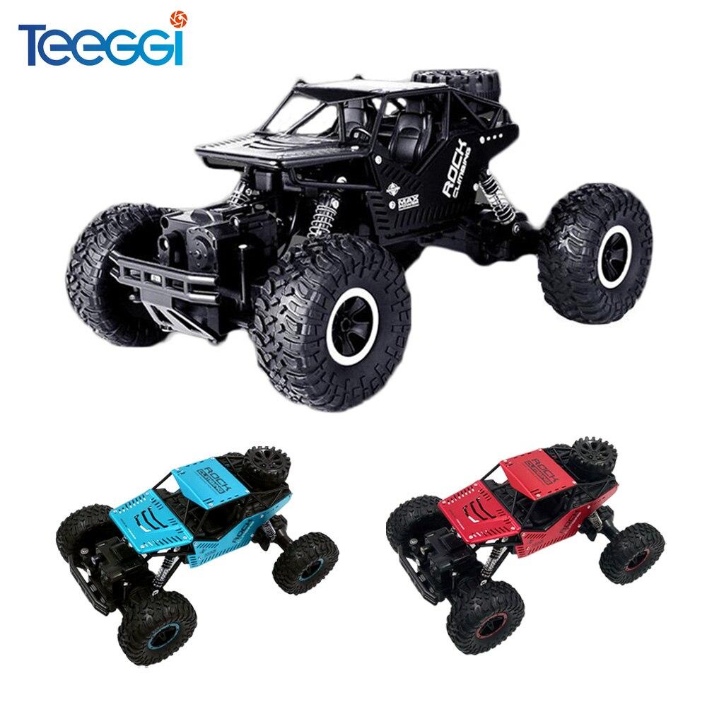 Teeggi C08S Bigfoot Carro de Controle Remoto Brinquedos RC Car 1:16 4WD Escalada Carros Off-Road Do Veículo de Brinquedo para Crianças presente Duplo Motores