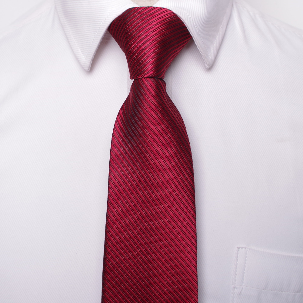 klassik kişilər biznes rəsmi toy qalstuku 8 sm zolaqlı - Geyim aksesuarları - Fotoqrafiya 6