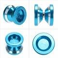 YOYO YOYO Mágico N8s Se Atreven a hacer Truco Cadena profesional Mini Yoyo Triaxial Hipervelocidad de Guardería de Aluminio Azul
