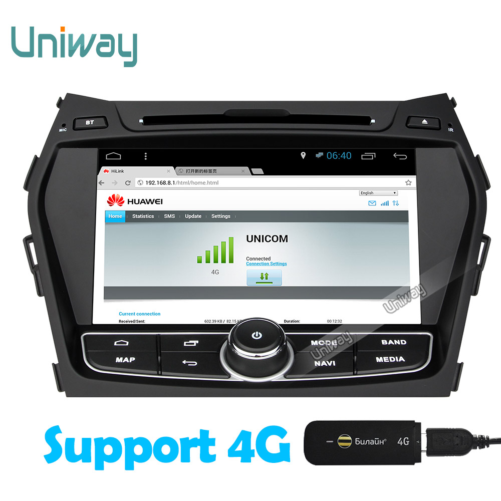 Aliexpress com buy uniway 2g 32g android 6 0 car dvd player for hyundai santa fe ix45 2013 2014 stereo car radio gps navigation support 4g wifi from