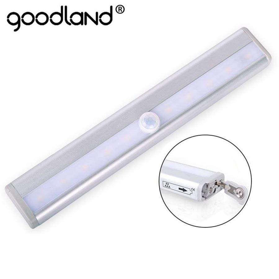 LED Night Light PIR Motion Sensor Closet Cabinet Light Wireless Night Lamp Kitchen Stair Toilet Lighting Luminaria Battery Power цена
